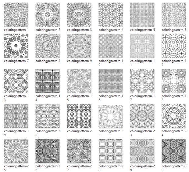 Geometric Designs For Coloring Pages by Debbie Miller