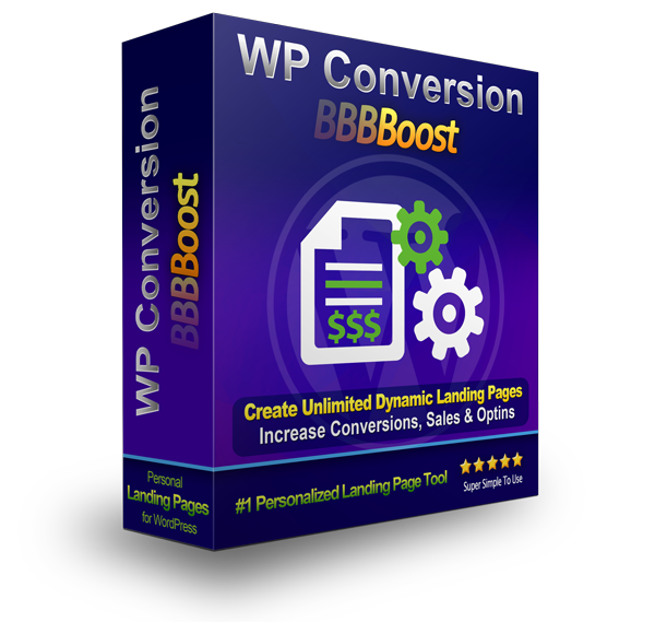 WP Conversion Boost Unlimited Landing Page Tool Software