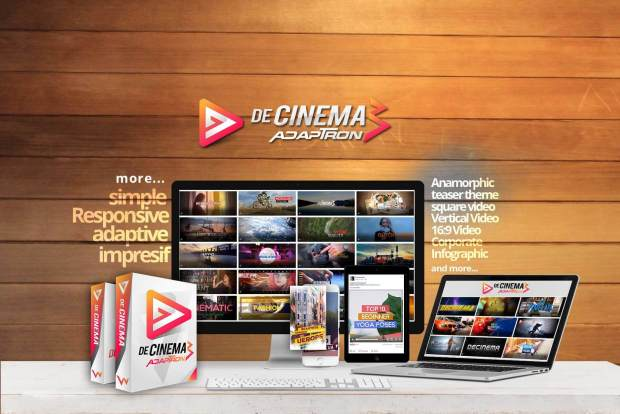 Decinema Adaptron by Agus Sakti Review-The Easiest Way You Can Use to Create Simple, Responsive and More Impressive Videos. Nearly Zero Cost. No Design Skill Required. No Copywriting. Totally Newbie Friendly.